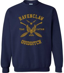 captain - new ravenclaw quidditch team captain y ink crewneck sweatshirt navy