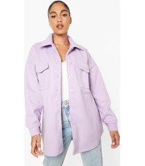 oversized tussenjas, lilac