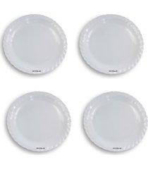 kit 4 saladeiras redonda rasa mã©dia - melamina - branco - dafiti