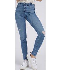 denimowe spodnie super stretch fason skinny