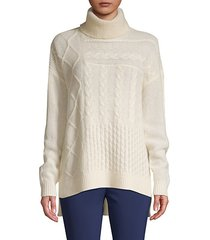 turtleneck cable-knit cashmere sweater