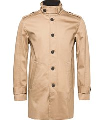 slhnoah cotton coat b trenchcoat lange jas bruin selected homme