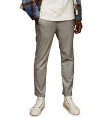 men's topman skinny fit drawstring pants, size 34 x 34 - grey