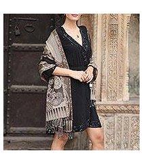 wool shawl, 'executive elegance' (india)