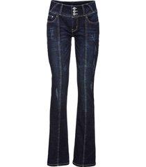 jeans bootcut con impunture modellanti (blu) - rainbow