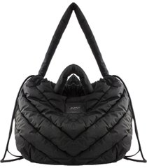 vic matié collapsible quilted black nylon bag