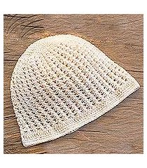 cotton hat, 'fresh alabaster' (guatemala)