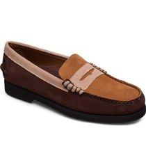 dan suede tricolor polaris loafers låga skor brun sebago