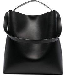 aesther ekme double strap shoulder bag - black