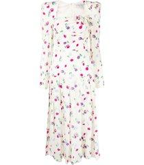 alessandra rich bow-detail dress - neutrals