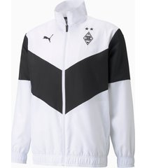bmg prematch voetbaljack heren, wit/zwart, maat m | puma
