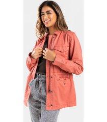 allie casual jacket - rose