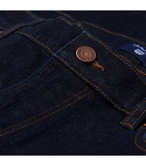 gant donkerblauwe jeans five pocket model slim fit stretch katoen