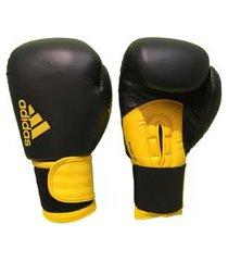 luva de boxe adidas hybrid 100 preto/amarelo