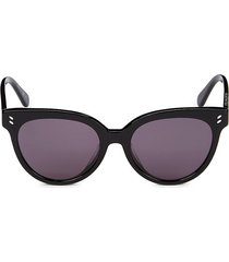 stella mccartney women's 55mm cat eye sunglasses - black
