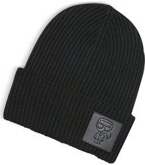 karl lagerfeld designer women's hats, k/ikonik patch beanie