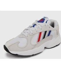 tenis lifestyle blanco-azul-rojo-negro adidas originals yung-1