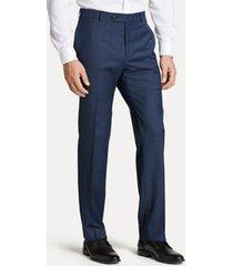 tommy hilfiger men's regular fit suit pant in blue sharkskin blue sharkskin - 34/30