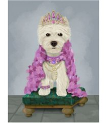 "fab funky west highland terrier with tiara canvas art - 15.5"" x 21"""