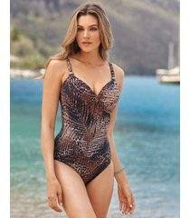 tigris siren firm control one-piece swimsuit