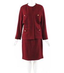 chanel boucle skirt suit