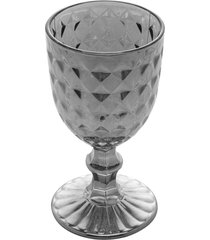 conjunto 6 taças vidro para vinho diamant cinza 245ml
