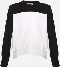 alexander mcqueen cotton blend sweatshirt with a color-block design