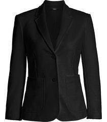 theory women's slim-fit blazer jacket - black - size 8