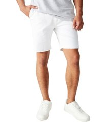 men's raw hem chino shorts