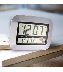 reloj de pared digital con reloj de alarma de temperatura-