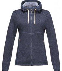 chaqueta sense blend-pro hoody jacket melange azul noche lippi