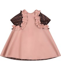 fendi pink dress for babygirl with iconic double ff