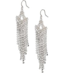 women's cristabelle crystal linear chandelier earrings