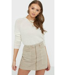 gina tricot utility zip denim skirt minikjolar