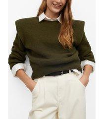 mango women's shoulder pad knit sweater