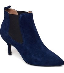 agnete chelsea s shoes boots ankle boots ankle boot - heel blå shoe the bear