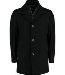 bos bright blue wollenjas zwart regular fit 20301ge01bo/990 black