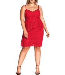 plus size women's city chic illustrious cotton lace sheath dress