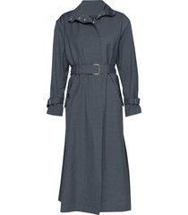 geneva coat trenchcoat lange jas blauw filippa k