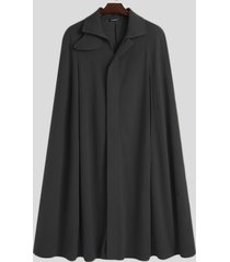 incerun abrigo de capa con cuello clásico informal para hombre