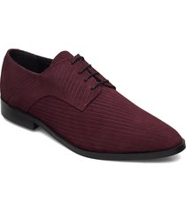 biabrenda suede cord derby snörade skor låga röd bianco