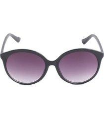 gafas mujer lente ovalado degrade color negro, talla uni