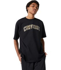 converse camiseta oversized collegiate black