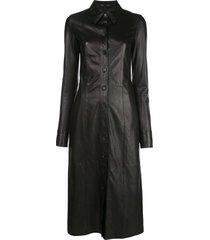 proenza schouler mid-length shirt dress - black