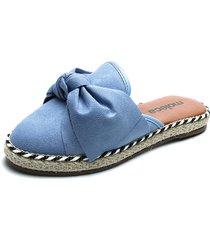 slipper azul-beige moleca