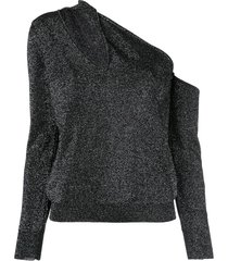asymmetrical cut-out sweater