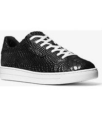 mk sneaker keating in pelle stampa pitone - nero (nero) - michael kors