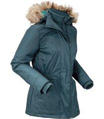 giacca tecnica outdoor con cappuccio rimovibile (petrolio) - bpc bonprix collection