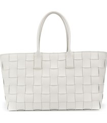 bottega veneta maxi cabat tote bag - white