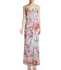 delphine floral chiffon maxi dress